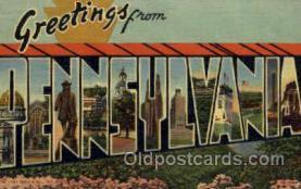 LLS001804 - Penesylvania, USA Large Letter States Postcard Postcards