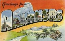 LLS001806 - Arkansas, USA Large Letter States Postcard Postcards