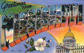 LLS001807 - Mississippi, USA Large Letter States Postcard Postcards