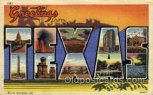 LLS001808 - Texas, USA Large Letter States Postcard Postcards