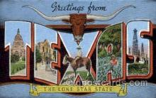 LLS001809 - Texas, USA Large Letter States Postcard Postcards