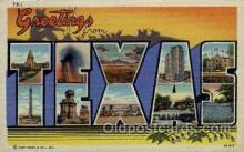 LLS001811 - Texas, USA Large Letter States Postcard Postcards