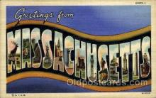 LLS001815 - Massachusetts, USA Large Letter States Postcard Postcards