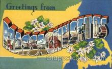 LLS001820 - Massachusetts, USA Large Letter States Postcard Postcards