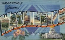 LLS001821 - Washington, USA Large Letter States Postcard Postcards