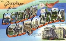 LLS001823 - North Carolina, USA Large Letter States Postcard Postcards