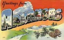 LLS001824 - Arkansas, USA Large Letter States Postcard Postcards