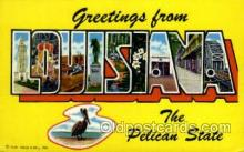 LLS001826 - Louisiana, USA Large Letter States Postcard Postcards