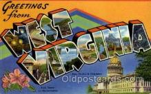 LLS001827 - West Virginia, USA Large Letter States Postcard Postcards