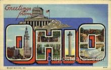 LLS001830 - Ohio, USA Large Letter States Postcard Postcards