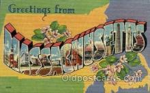 LLS001837 - Massachusetts, USA Large Letter States Postcard Postcards