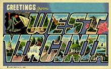 LLS001838 - West Virginia, USA Large Letter States Postcard Postcards