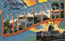 LLS001841 - Missouri, USA Large Letter States Postcard Postcards