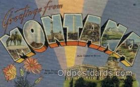 LLS001846 - Montana, USA Large Letter States Postcard Postcards