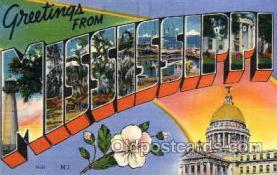 LLS001848 - Mississippi, USA Large Letter States Postcard Postcards