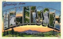 LLS001849 - Tennessee, USA Large Letter States Postcard Postcards