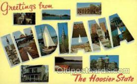LLS001850 - Indiana, USA Large Letter States Postcard Postcards