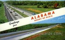 LLS001852 - Alabama, USA Large Letter States Postcard Postcards