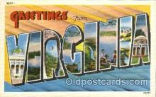 LLS001853 - Virginia, USA Large Letter States Postcard Postcards