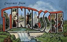 LLS001857 - Tennessee, USA Large Letter States Postcard Postcards