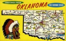 LLS001869 - Oklahoma USA Large Letter States, Old Vintage Antique Postcard Post Cards