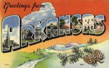LLS001870 - Arkansas USA Large Letter States, Old Vintage Antique Postcard Post Cards