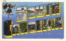 LLS001874 - South Carolina USA Large Letter States, Old Vintage Antique Postcard Post Cards