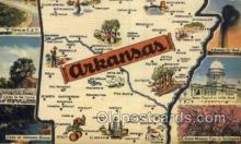 LLS001882 - Arkansas USA Large Letter States, Old Vintage Antique Postcard Post Cards