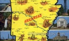 LLS001885 - Arkansas USA Large Letter States, Old Vintage Antique Postcard Post Cards
