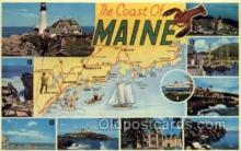 LLS001889 - Maine USA Large Letter States, Old Vintage Antique Postcard Post Cards