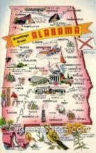 LLS001891 - Alabama USA Large Letter States, Old Vintage Antique Postcard Post Cards