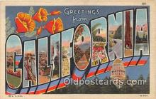 LLS100013 - California, USA Postcard Post Cards