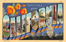 LLS100031 - California, USA Postcard Post Cards