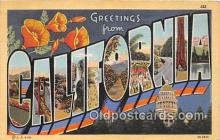 LLS100038 - California, USA Postcard Post Cards