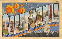 LLS100042 - California, USA Postcard Post Cards