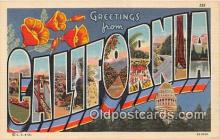 LLS100045 - California, USA Postcard Post Cards