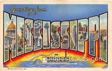 LLS100090 - Mississippi, USA Postcard Post Cards
