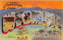 LLS100097 - Wyoming, USA Postcard Post Cards