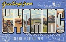 LLS100098 - Wyoming, USA Postcard Post Cards