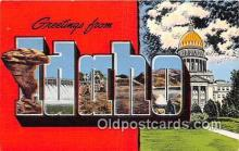 LLS100102 - Linen Idaho, USA Postcard Post Cards