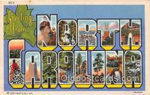 LLS100105 - Linen North Carolina, USA Postcard Post Cards