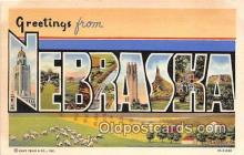 LLS100112 - Linen Nebraska, USA Postcard Post Cards