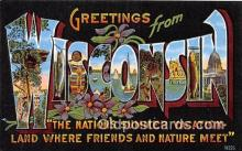 LLS100114 - Linen Wisconsin, USA Postcard Post Cards