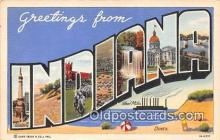 LLS100116 - Linen Indiana, USA Postcard Post Cards