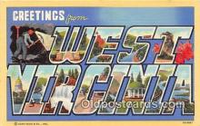 LLS100117 - Linen West Virginia, USA Postcard Post Cards