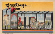 LLS100120 - Linen Montana, USA Postcard Post Cards