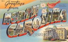 LLS100121 - Linen North Carolina, USA Postcard Post Cards