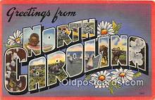 LLS100125 - Linen North Carolina, USA Postcard Post Cards