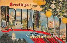 LLS100129 - Linen California, USA Postcard Post Cards