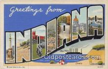 LLS100131 - Linen Indiana, USA Postcard Post Cards